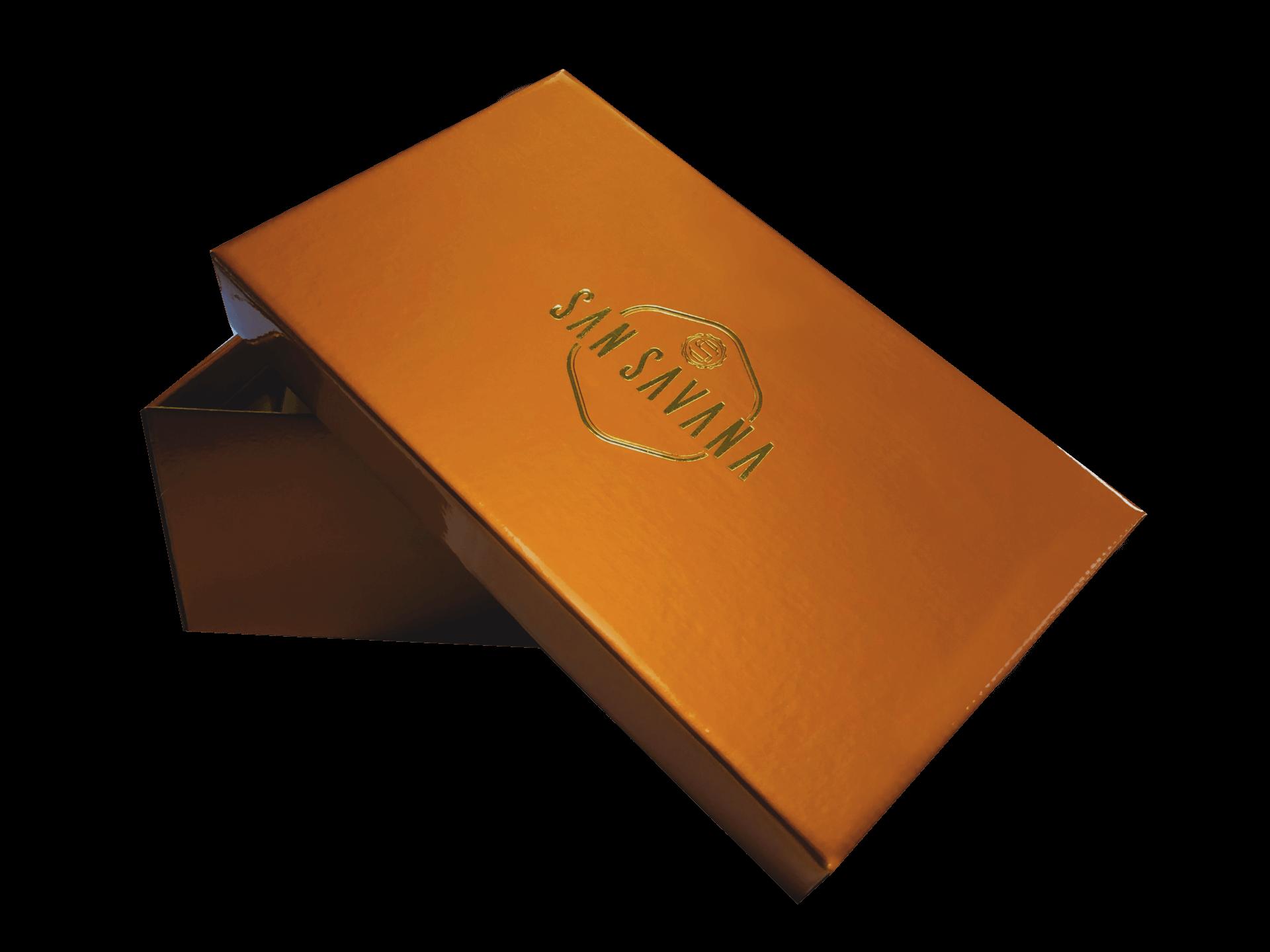 Cutie pentru pantofi din carton E-flute cu folio aplicat